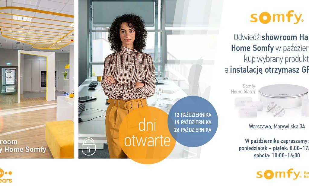 Październik pod znakiem smart promocji w Happy Home Somfy